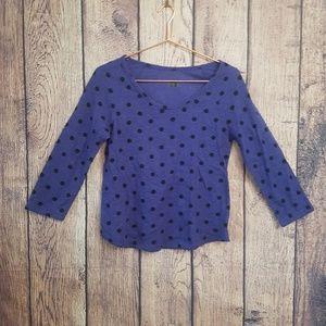 BDG womens light sweater size L purple polka dot